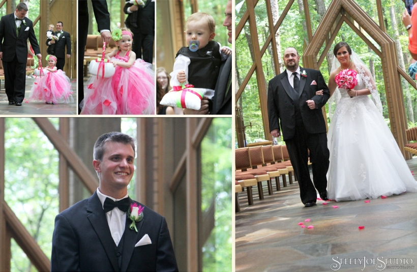 The processional at Anthony Chapel. The tiny flower girl and ring bearer were quite the scene stealers!
